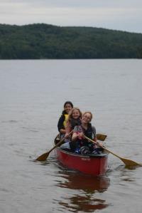 Addy paddling